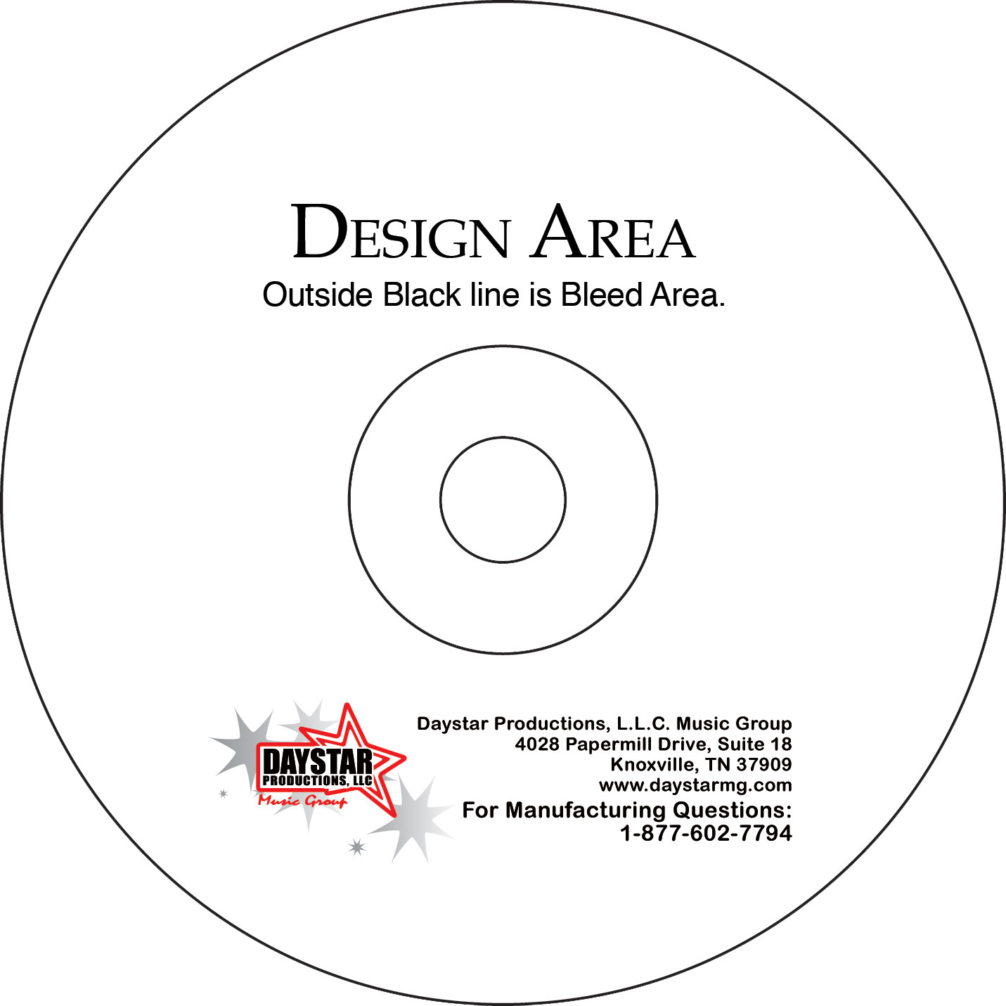 cd or dvd face template daystar music group. Black Bedroom Furniture Sets. Home Design Ideas